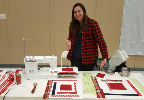 Michelle built some log cabins at our snowy sew-in in December