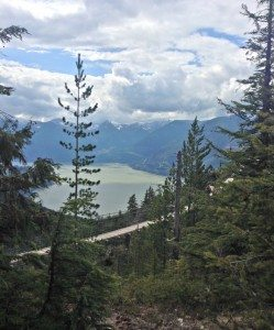 A magnificent view of Howe Sound fjord sea to sky gondola