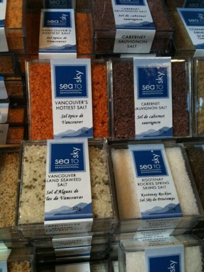 Salt flavors from around the world at Edible Canada Bistro Shop
