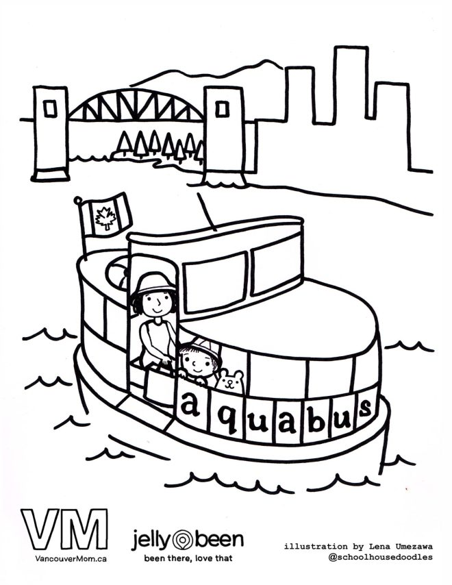 Vancouver Aquabus - Vancouver Colouring Pages