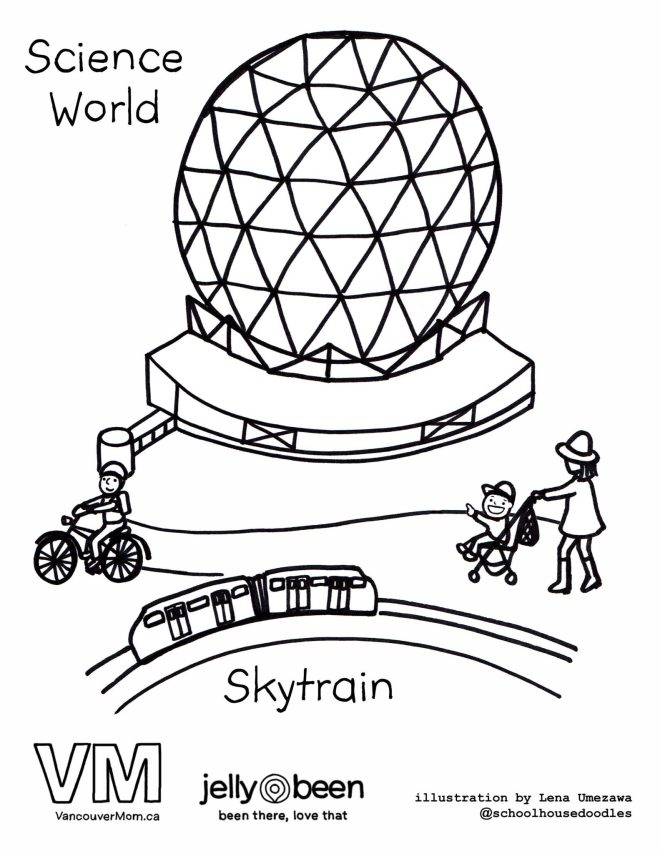 Science World - Vancouver Colouring Pages