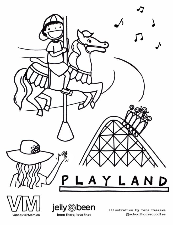 Playland - Vancouver Colouring Pages