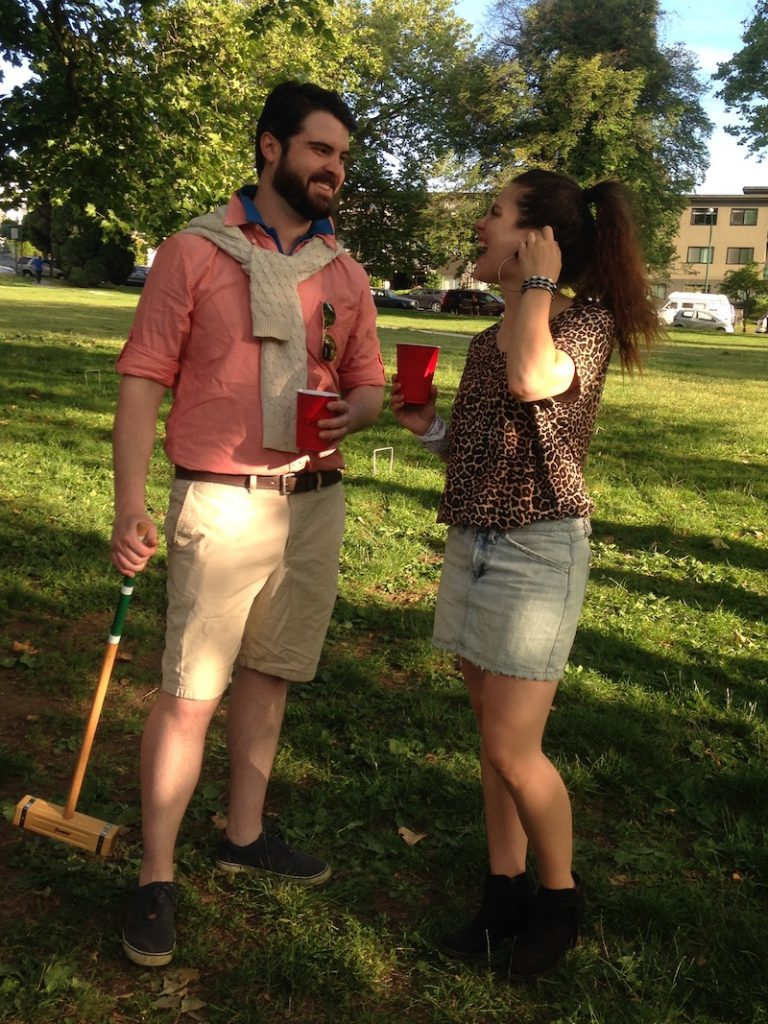 Croquet Game in Costume
