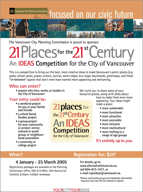 21 Places for the 21st Century event poster