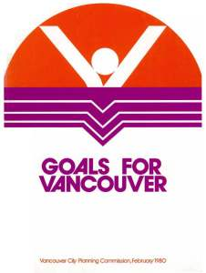 Cover of Goals for Vancouver report, 1980