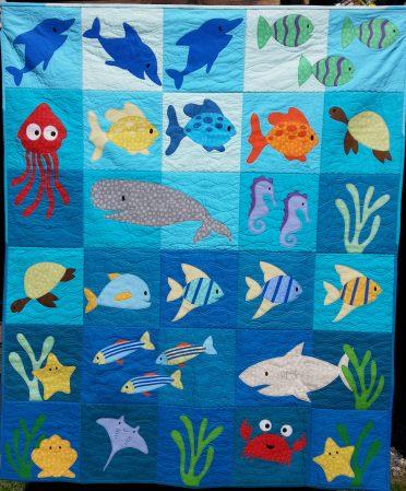 """Sea Creatures - 50""""x60"""""""
