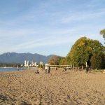 The sandy beach at Kitsilano