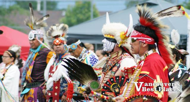 Men at Chilliwack Powwow