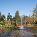 View of VanDusen Garden's Fountain