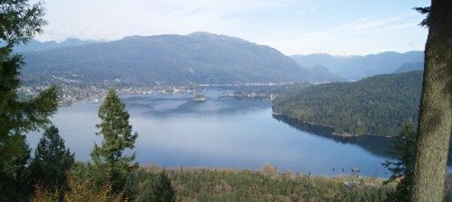 View of Indian Arm from Burnaby Mountain