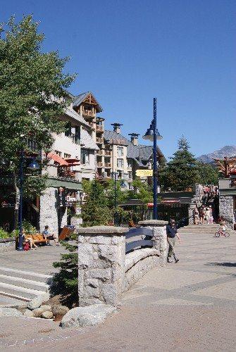 Pedestrian street in Whistler Village