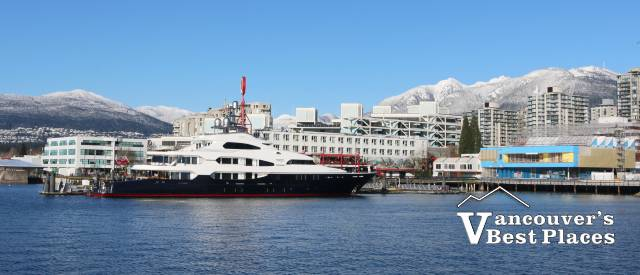 Winter Yacht at Lonsdale Quay