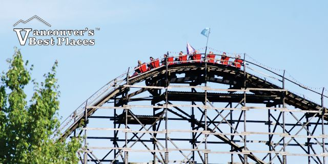 Wooden Roller Coaster at PNE Playland