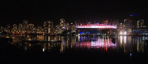 BC Place Stadium from False Creek