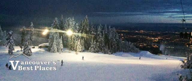 Night Skiing at Grouse Mountain
