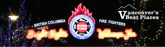 Bright Nights Burn Fund Sign