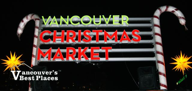 Vancouver Christmas Market Sign