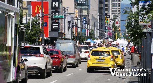 Traffic on Granville Street