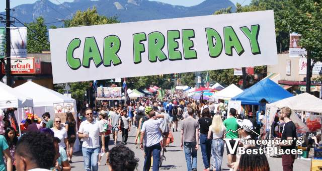 Car Free Day on Commercial Drive