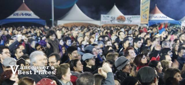 Crowds at Persian New Year