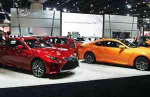 Lexus Cars on Display