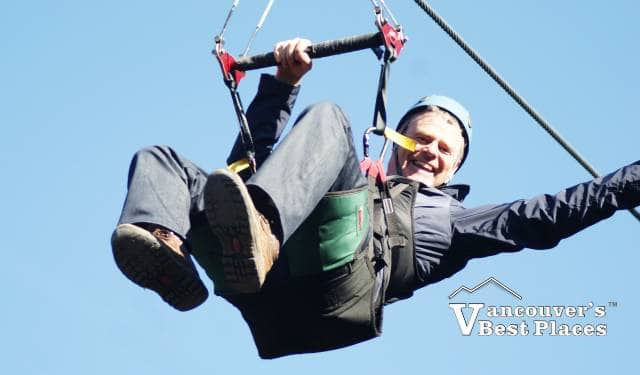 Hanging from Grouse Zipline