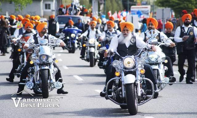 Sikh Motorcyclists in Vaisakhi Parade