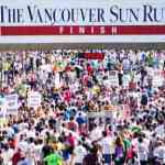 Vancouver Sun Run Finish Line