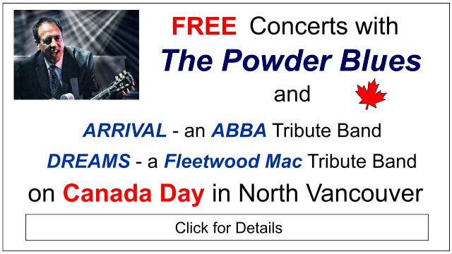 Canada Day Powder Blues Concerts