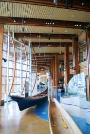 Canoes in Cultural Centre Great Hall