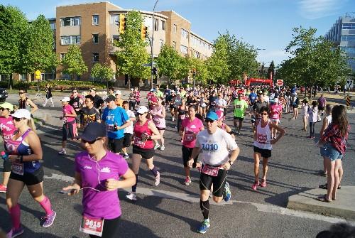 Scotia Half Marathon Runners at UBC
