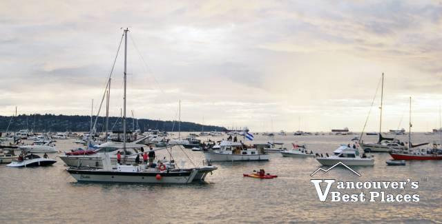 English Bay Boats at Celebration of Light