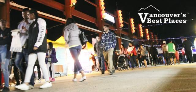 Shoppers at Illumination Night Market