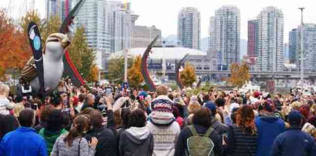 Crowds at Thriller Vancouver Event