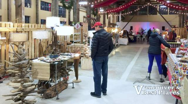 Displays at Shipyards Christmas Market