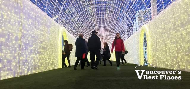Glow Christmas Light Tunnel