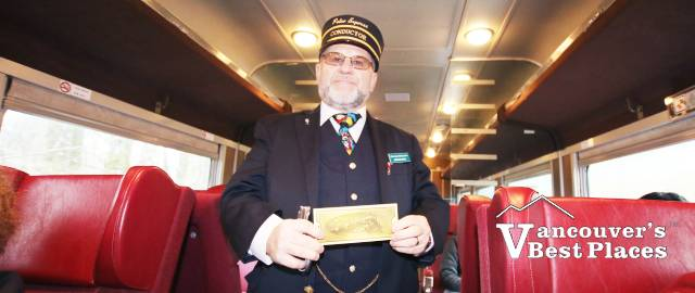 Polar Express Conductor with Golden Ticket