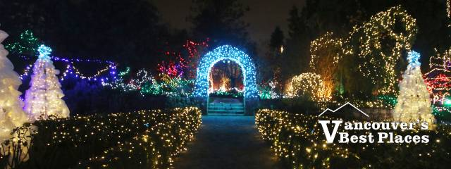 VanDusen Garden Lights and Archway