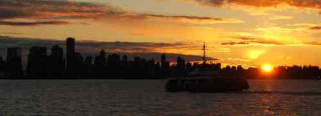 Sunset from Lonsdale Quay
