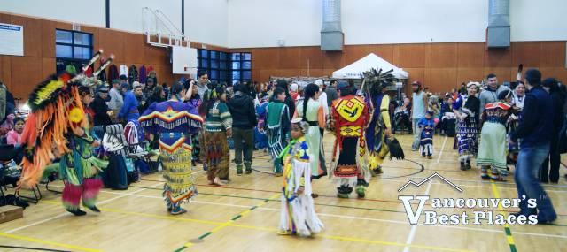 Powwow in Roundhouse Gymnasium