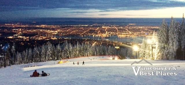 The Cut at Grouse Mountain at Night