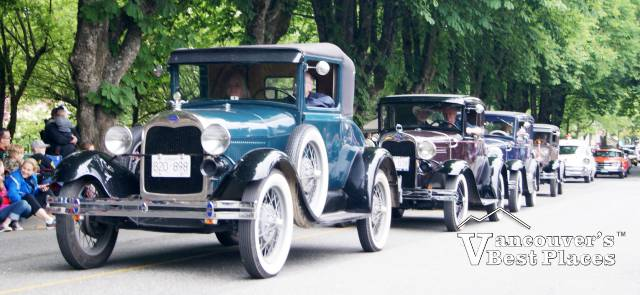 Fort Langley Antique Cars Procession