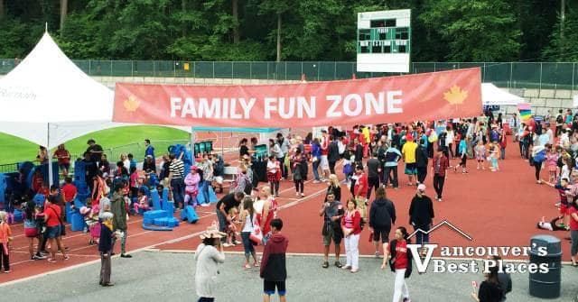 Family Fun Zone at Swangard Stadium