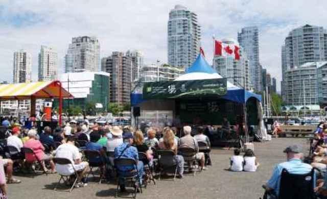 Granville Island Jazz Crowds