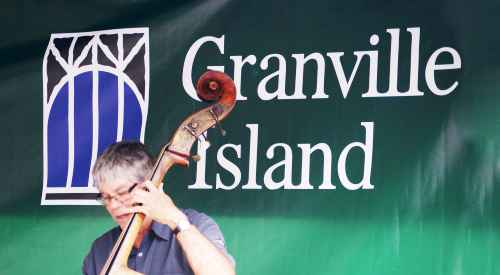 Jazz Bass Player on Granville Island