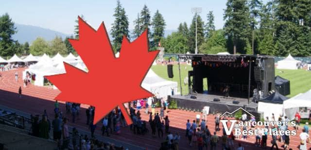 Swangard Stadium at Canada Day