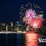 Fireworks Bursting Over Coal Harbour