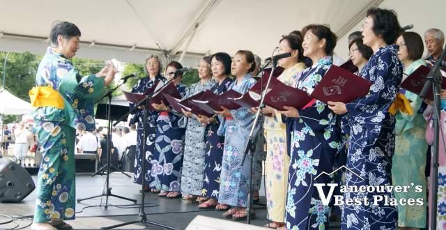 Japanese Choir at Festival