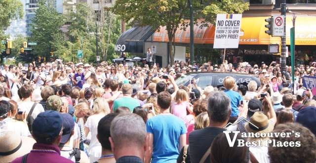 Pride Parade Crowds on Robson