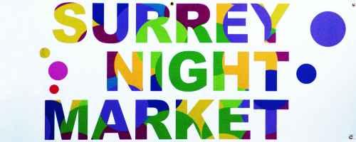 Surrey Night Market Sign